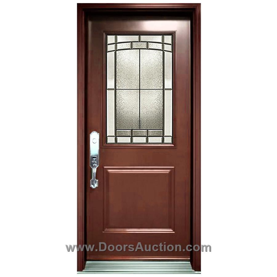 Half Glass Half Wood Kitchen Door